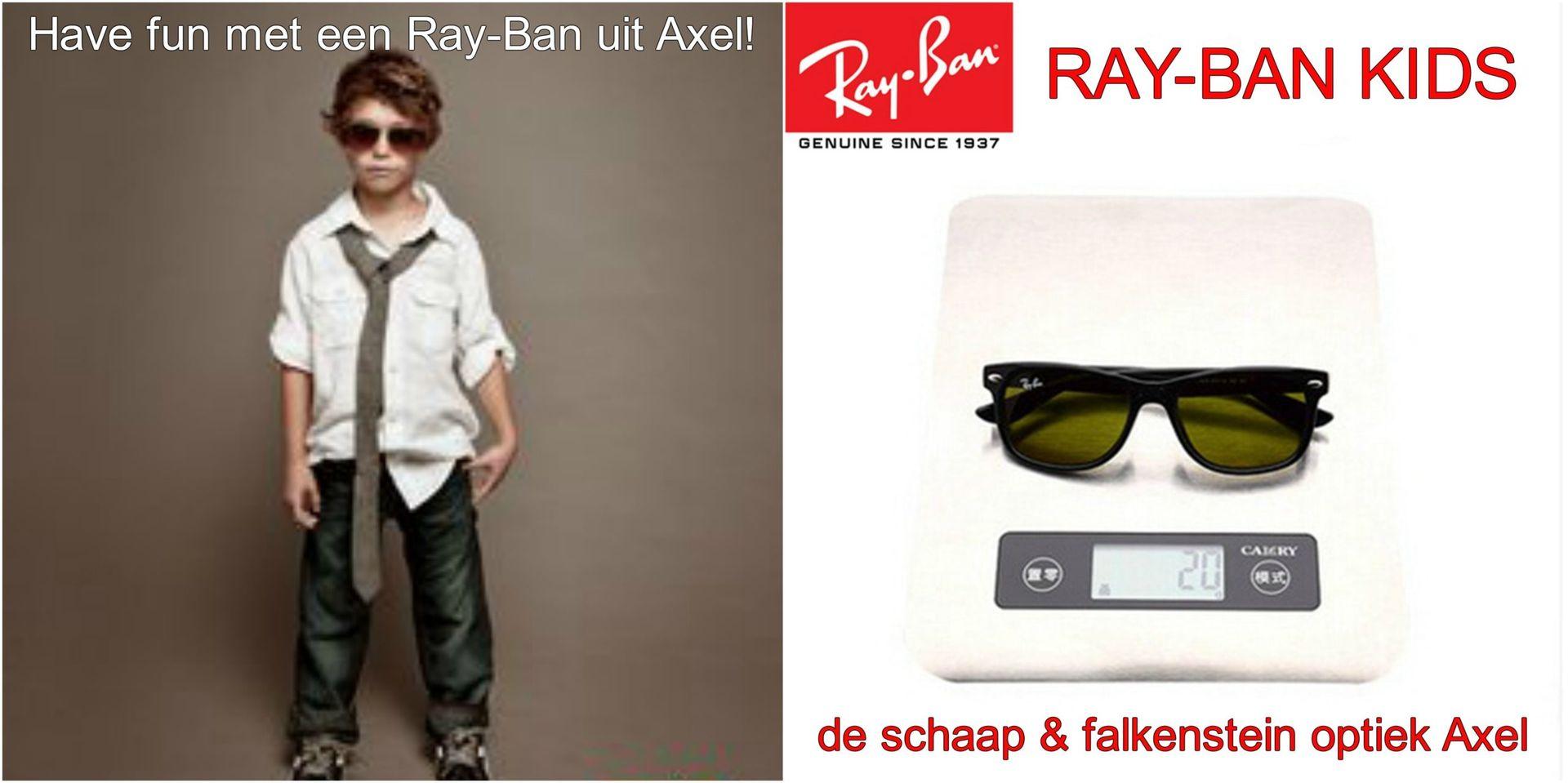 Collage Ray-Ban kids! Have fun met een Ray-Ban uit Axel - voor website & fb - met winkelnaam