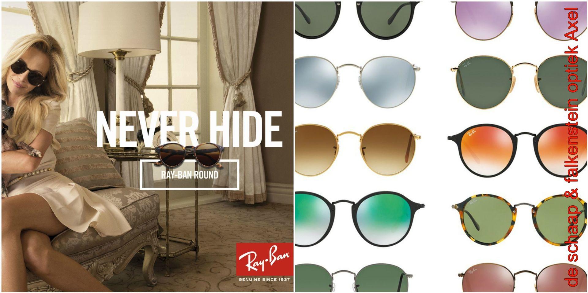 Collage Ray-Ban round - voor website & fb - met winkelnaam