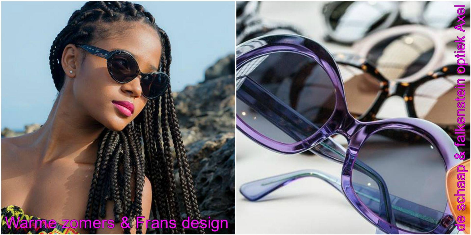 Collage Warme zomers & Frans design - voor website & fb - met winkelnaam
